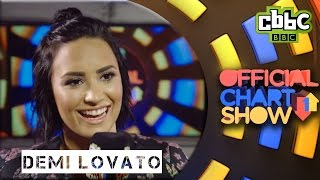 Demi Lovato on The Vamps and her fans - CBBC Official Chart Show