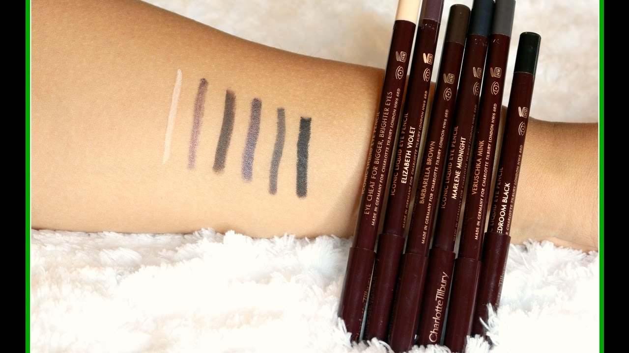 charlotte tilbury rock 39 n 39 kohl eye pencils swatches. Black Bedroom Furniture Sets. Home Design Ideas