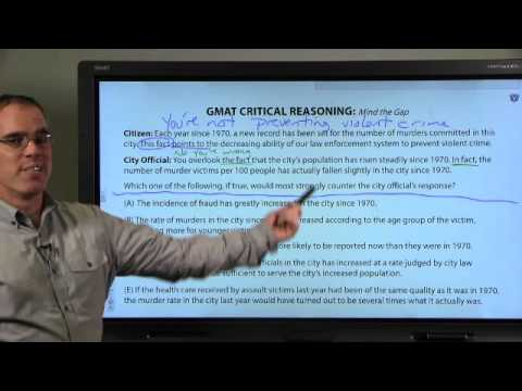 Online GMAT Classes with Veritas Prep, Lesson 2: Critical Reasoning Question Type