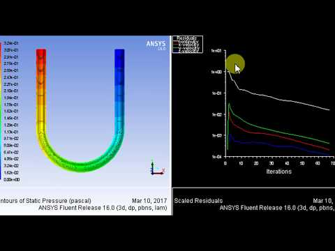 ANSYS Fluent Tutorial, Flow in a U-bend pipe (circular cross-section)