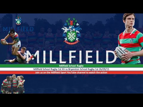 Rugby XV Millfield V Bryanston 26th September 2015
