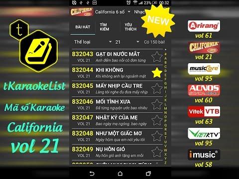 Mã số Karaoke California vol 21 🎤 tKaraokeList