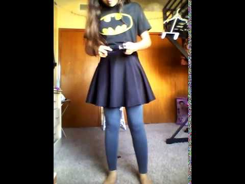 & School Friendly Diy Batman/Batgirl Costume - YouTube