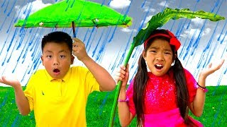Download Rain Rain Go Away Song | Emma & Jannie Sing-Along Nursery Rhymes Kids Songs Mp3 and Videos