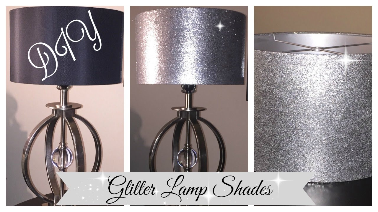 Diy Glitter Lampshade Easy