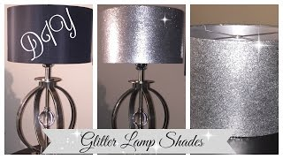 DIY  GLITTER LAMPSHADE | EASY