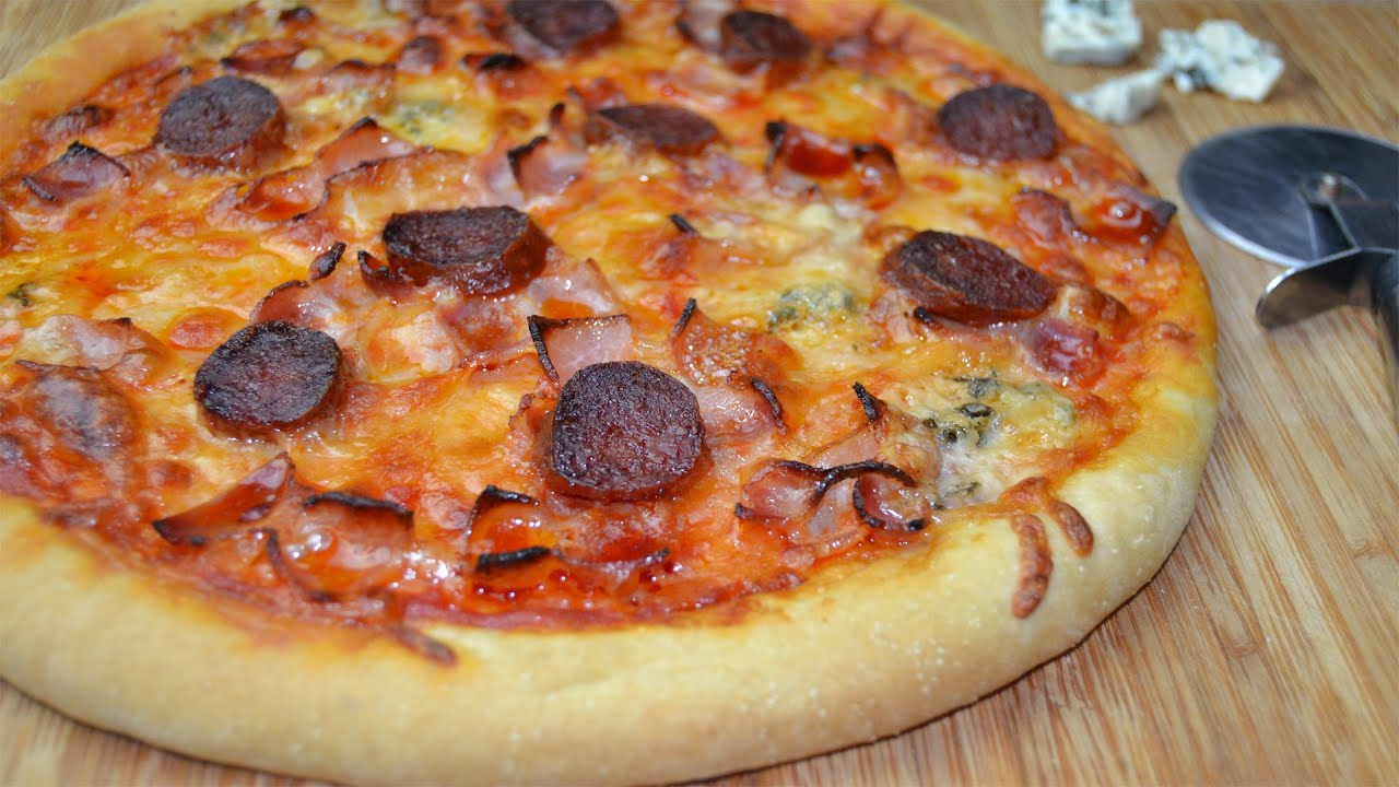 easy homemade pizza chorizo bacon amp blue cheese pizza easy pizza 30425