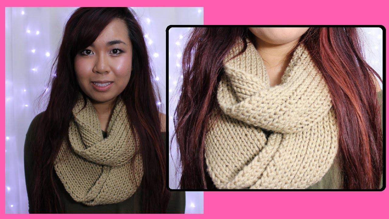 Diy Easy Scarf Knitting Tutorial For Beginners Youtube