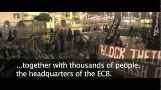 Transnational call & invitation to Blockupy Frankfurt 2012 ★ to be continued (English subtitles)
