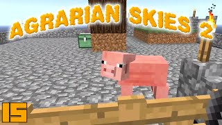 Minecraft Mods Agrarian Skies 2 - MOB ESSENCE !!! [E15] (Modded Skyblock)
