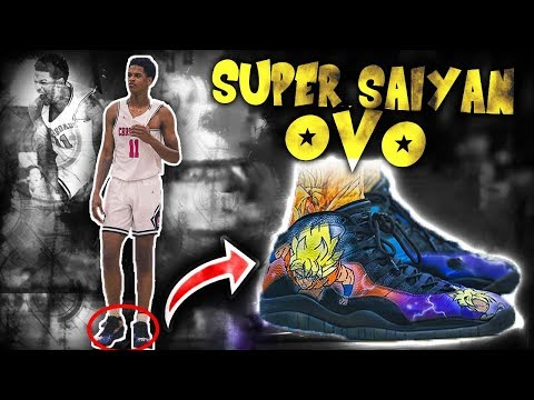 Shareef O'Neal Laces Up Custom DRAGON BALL Z Kicks! Loses CLOSE Game