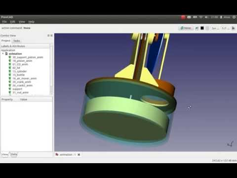 Stirling Engine with freecad and vrml