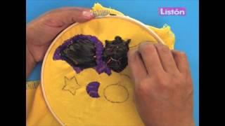 Murciélago bordado con liston