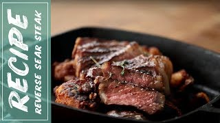 How to Cook a Perfect REVERSE SEAR STEAK - Take Your Steak to the Next Level   Fidel Gastro