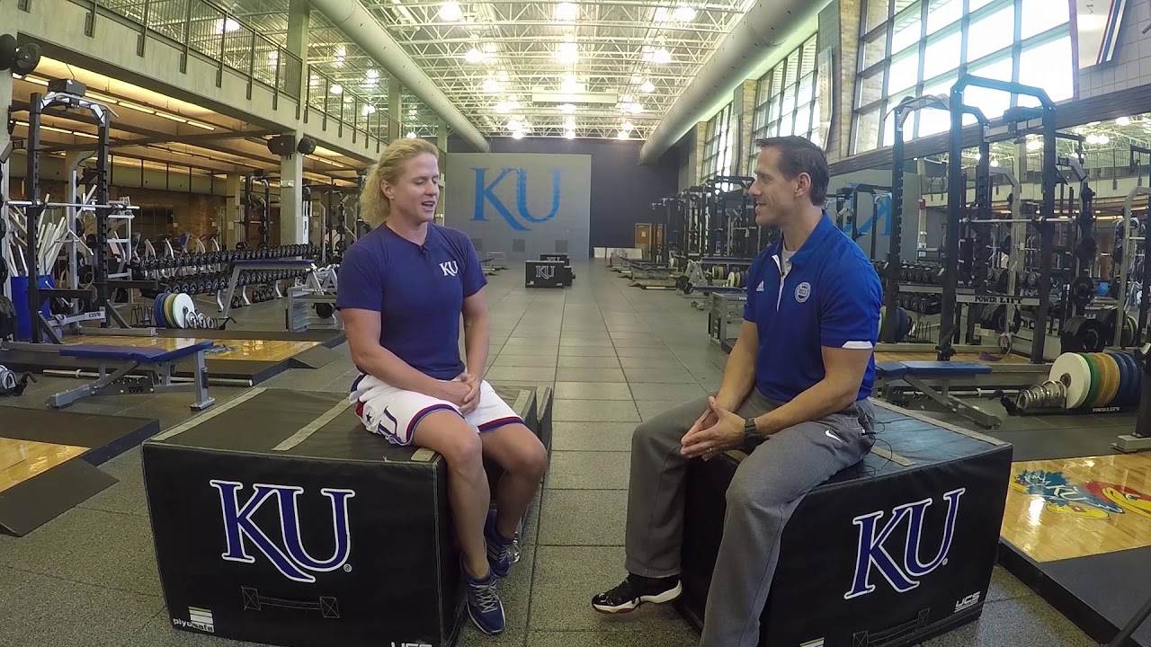 picture In the Gym With Andrea Hudy, KU Strength Coach