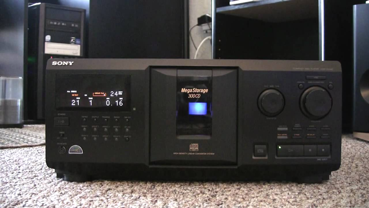 sony cdp cx335 mega storage cd player youtube rh youtube com Sony 400 Disc CD Changer Sony MegaStorage 400 CD