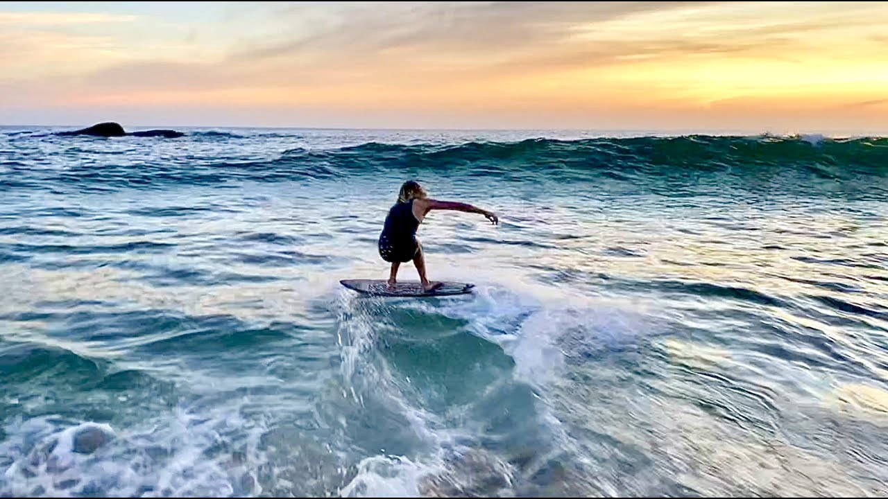 My Favorite Beach for Skimboarding!  Small But perfect wedge in a Hidden Cove.