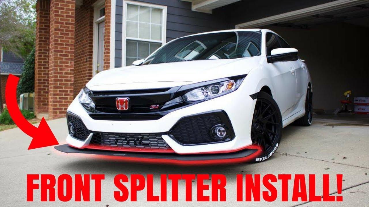 2017 Honda Civic Si Front Splitter Install!