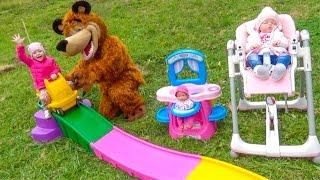 Маша Медведь и капризная маленькая Катя Видео для детей Reborn Katy and masha and the bear