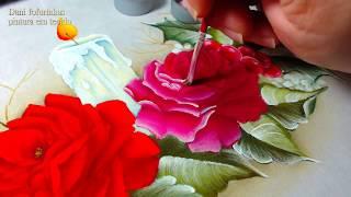 Aprenda Agora Pintura em Tecido – Rosa de Natal