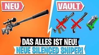 *UPDATE* NEUE Silenced Sniper & Vault Waffen | Fortnite Battle Royale