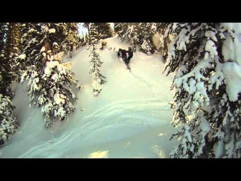 Utah Ski-doo 800 Etec Summit X 154 Cornice Drop / Messing Around GO PRO HERO HD