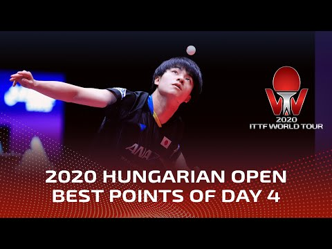 BEST POINTS of Day 4   2020 ITTF World Tour Hungarian Open