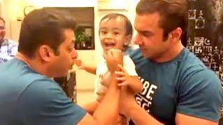 Salman Khan's CUTE Sultan Fight With Arpita Khan's Son Ahil After Tubelight Trailer Launch