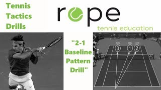 "Singles Tactics Drills - Baseline Game - ""2-1 Baseline Pattern Drill"""