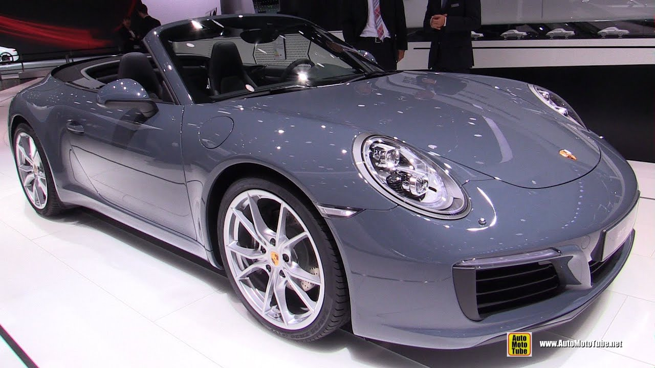 2017 porsche 911 carrera convertible exterior interior walkaround debut 2015 frankfurt motor show youtube