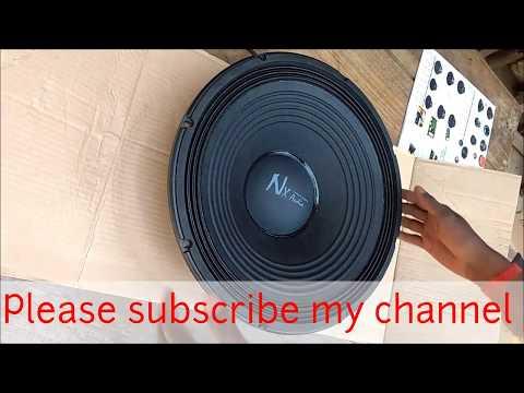 Unboxing NX audio 158 DJ Bass speaker