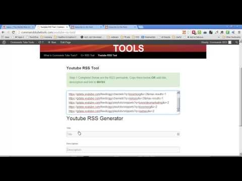 YouTube RSS Feed Generator Tool For Videos Playlists Channel Favorites