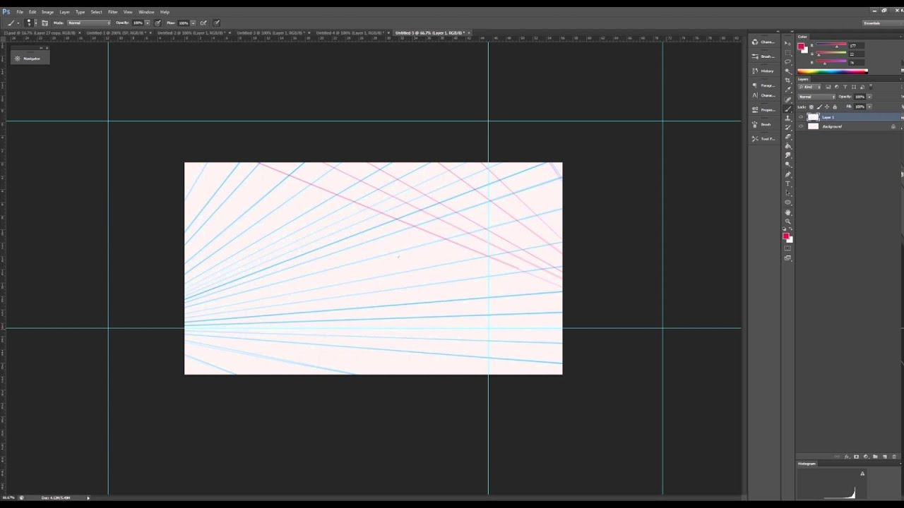 how to add grid photoshop