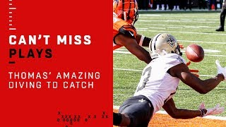Michael Thomas Lays Out for Amazing TD Grab!