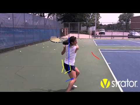 Tennis instruction forehand video-analysis youtube.