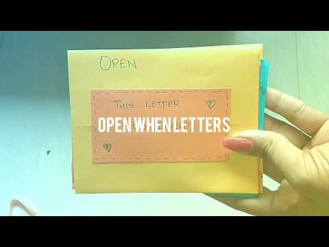 Best gift for long distance relationships|| What is inside the open when Letters???