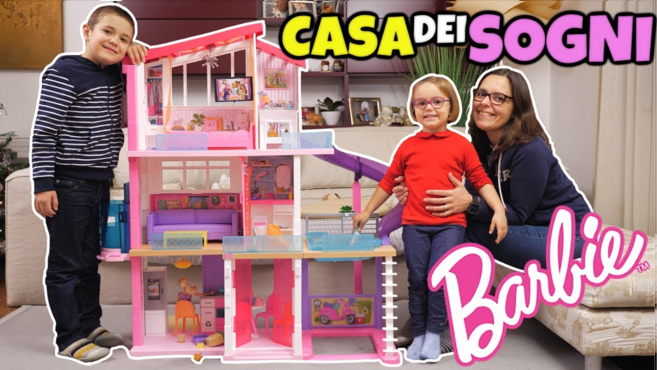 La casa dei sogni di barbie unboxing e tuffi in piscina for Piscina di barbie