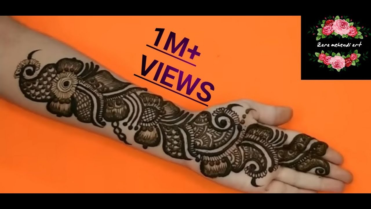 Arabic Beautiful And Easy Mehndi Design
