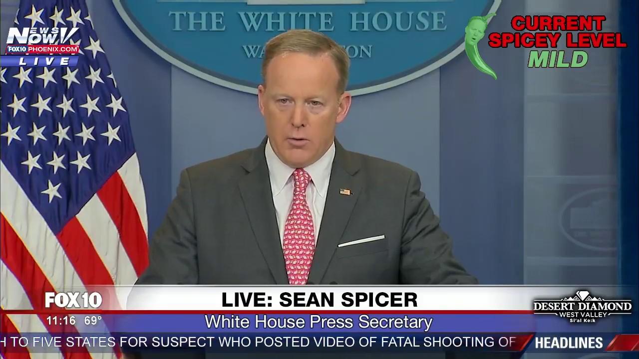 fnn: sean spicer white house press briefing (4/17/17) - youtube