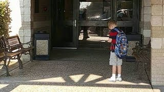 Mother Surprised When She Sees Son Not Go Into School After Being Dropped Off, Then She Realizes Why
