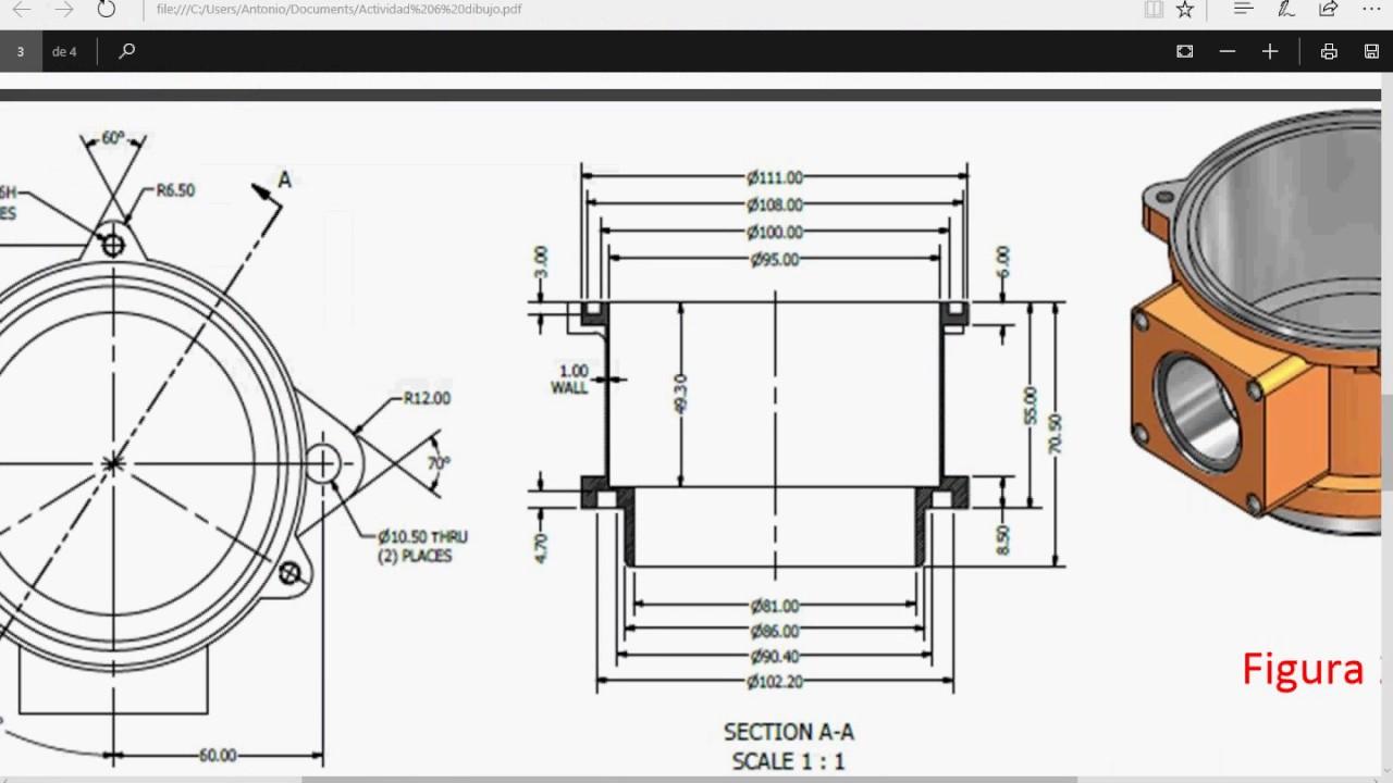 autodesk dibujo planos mecanicos y dise o mecanico parte 1