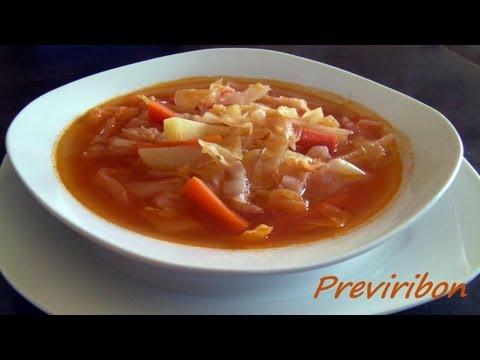 Sopa de Col o Repollo / Cabbage soup