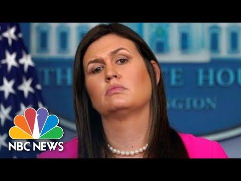 White House Press Secretary Sarah Sanders Slams Anonymous Op-Ed Writer As 'Gutless Loser'   NBC News