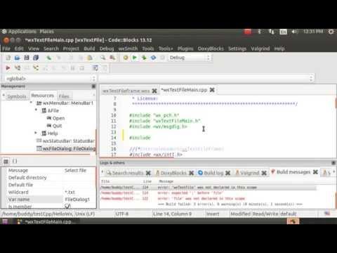 Code::Blocks + wxWidgets + wxSmith: read text file