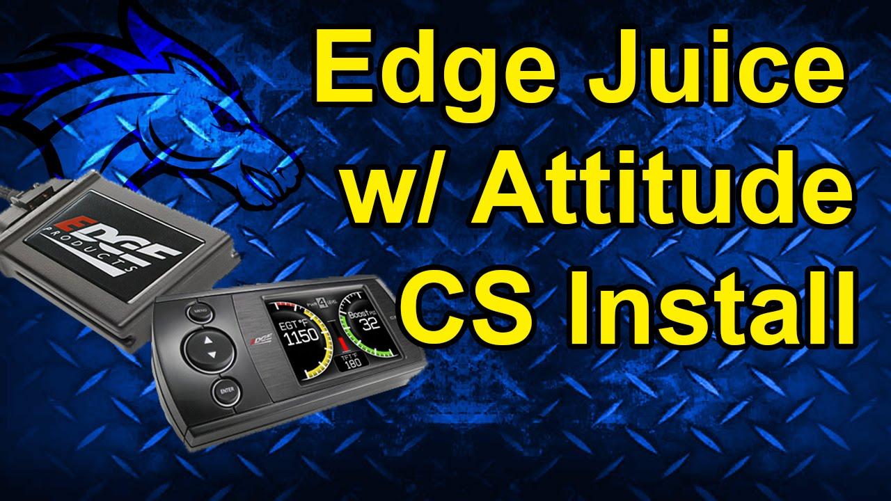 hight resolution of edge juice with attitude cs install 98 00 dodge 5 9l 31000