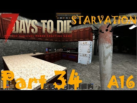 KITCHEN/LOUNGE AREA AND DOG WITH RABIES! | 7 Days To Die Starvation A16 | Part 34