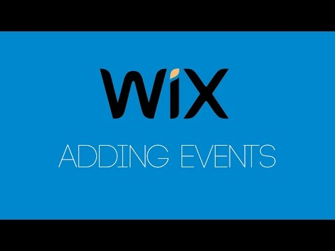 Adding Events To Wix - Wix.com Tutorial - Wix Tutorials For Beginners