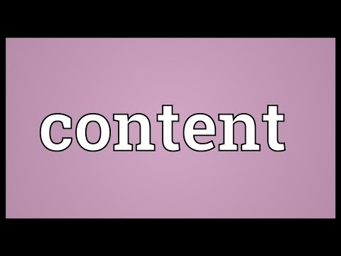 Content Meaning