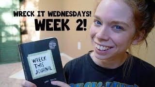 WRECK THIS JOURNAL- WRECK IT WEDNESDAYS- WEEK 2