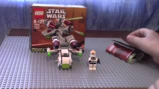 Lego star wars 75076 Республиканский ганшип (обзор на русском языке)